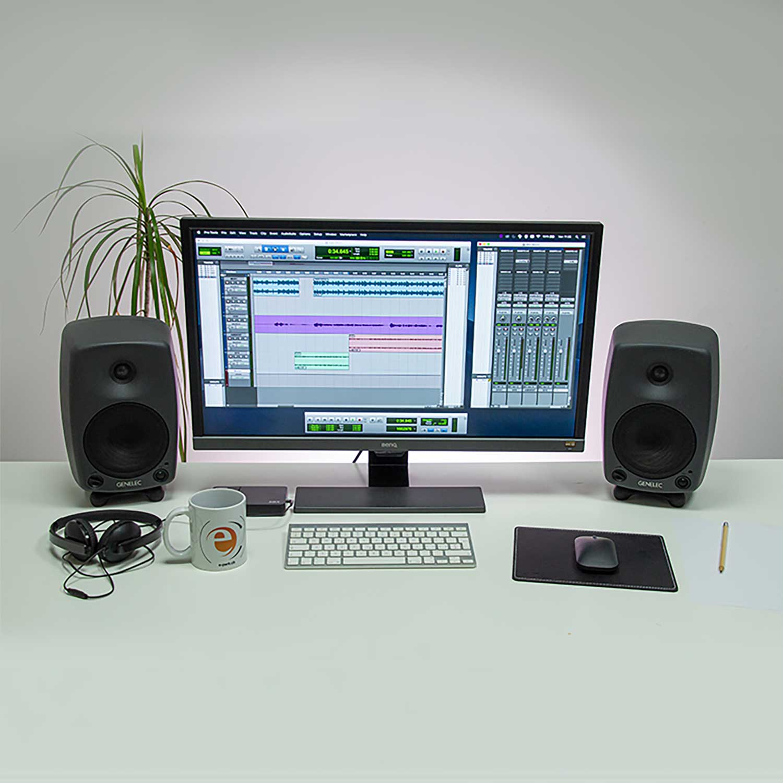 Soundsystem Schreibtisch