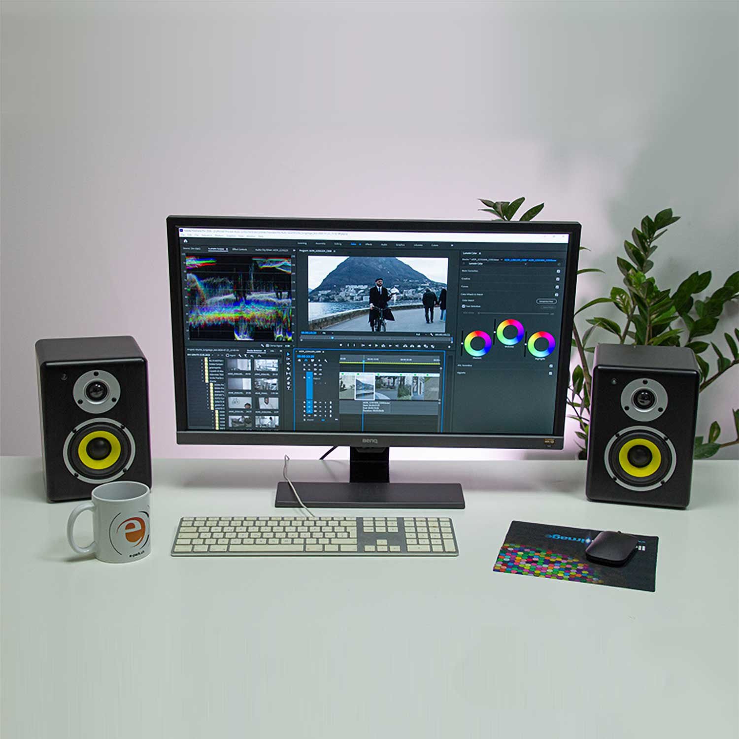 Video editing desk