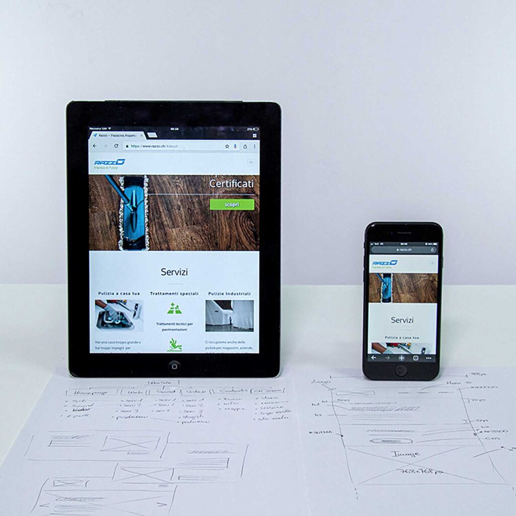 Web site's graphics on mobile devices